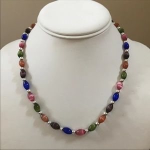 Sterling silver cats eye necklace